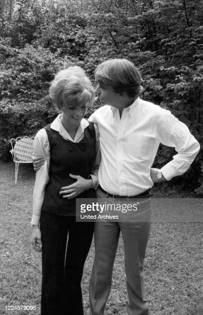 German actress Grit Boettcher with husband Christian Woelffer Germany 1960s