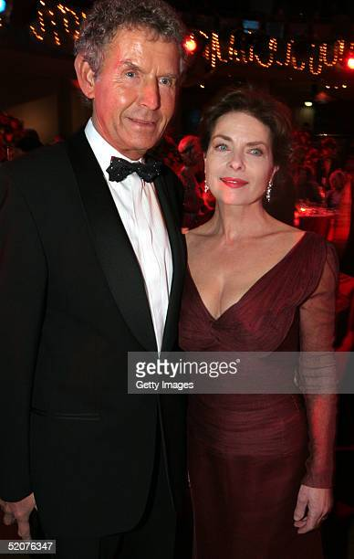 German actress Gudrun Landgrebe and her husband Ulrich Nathusius attend the Diva Awards at Deutsches Theater on January 27 2005 in Munich Germany