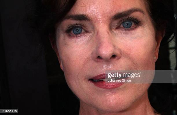 German actress Gudrun Landgrebe attends the Agencies Summer Party during the Munich Film Festival on June 21 2008 in Munich Germany