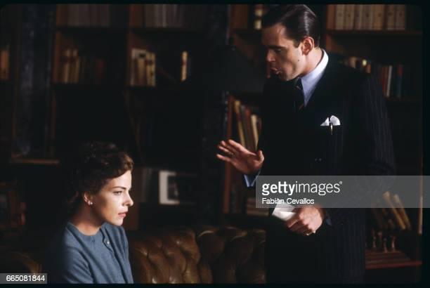 German actress Gudrun Landgrebe playing Louise von Hollendorf stars opposite Kevin McNally interpreting Heinz von Hollendorf in Italian director...
