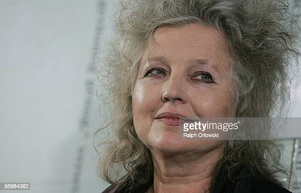 German actress Hanna Schygulla attends the Frankfurt Book Fair on October 22 2005 in Frankfurt Germany South Korea is the guest of honour at the 57th...