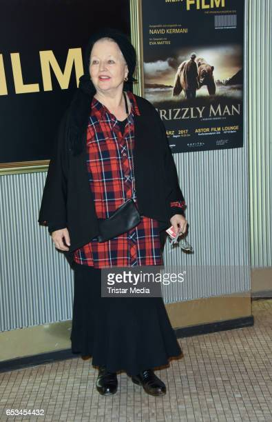 German actress Hanna Schygulla attends the 'Mein Film' Premiere at Astor Film Lounge on March 14 2017 in Berlin Germany