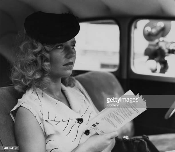 German actress Hanna Schygulla in Solothurn Switzerland during the filming of 'Der Stumme' 1975 The film based on the novel by Otto F Walter is...