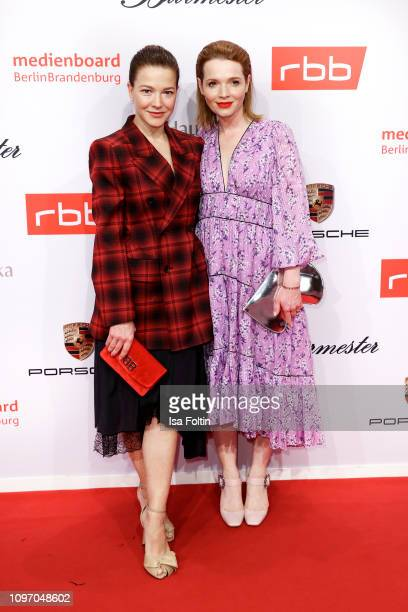 German actress Hannah Herzsprung and German actress Karoline Herfurth attend the Medienboard BerlinBrandenburg Reception on the occasion of the 69th...