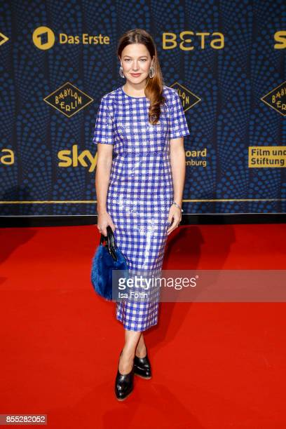 German actress Hannah Herzsprung attends the 'Babylon Berlin' Premiere at Berlin Ensemble on September 28 2017 in Berlin Germany