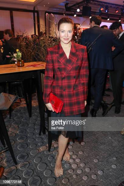 German actress Hannah Herzsprung attends the Medienboard BerlinBrandenburg Reception on the occasion of the 69th Berlinale International Film...