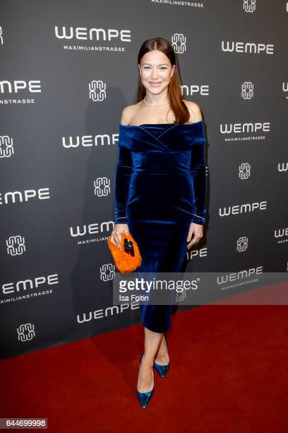 German actress Hannah Herzsprung attends the Wempe store opening with the Rolls Royce shuttels in front of the store on February 23 2017 in Munich...