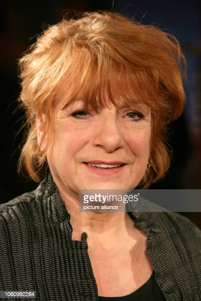 German actress Hannelore Hoger during a talk show on the 14th of February in 2006