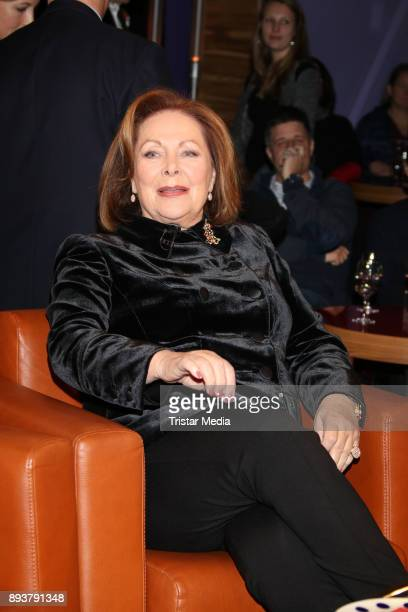 German actress Heide Keller during thr NDR Talk Show on December 15 2017 in Hamburg Germany