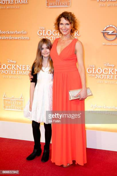 German actress Heike and her daughter Olivia Kloss attend the premiere of the musical 'Der Gloeckner von Notre Dame' on April 9 2017 in Berlin Germany