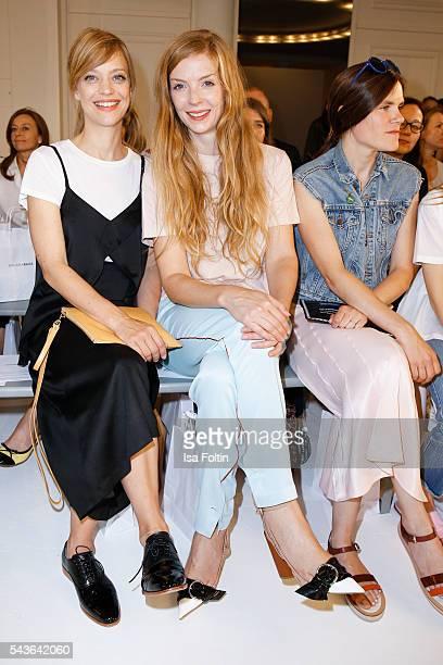 German actress Heike Makatsch and german actress Pheline Roggan attend the Malaikaraiss defilee during the Der Berliner Mode Salon Spring/Summer 2017...