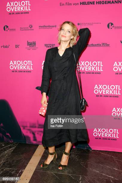 German actress Heike Makatsch attends the 'Axolotl Overkill' Berlin Premiere at Volksbuehne RosaLuxemburgPlatz on June 21 2017 in Berlin Germany