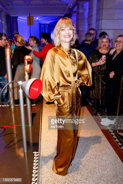 German actress Heike Makatsch attends the Blue Hour Party hosted by ARD during the 70th Berlinale International Film Festival at Museum der...