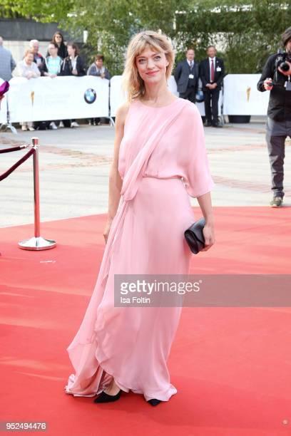 German actress Heike Makatsch attends the Lola German Film Award red carpet at Messe Berlin on April 27 2018 in Berlin Germany