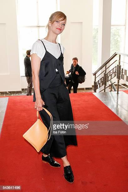 German actress Heike Makatsch attends the Malaikaraiss defilee during the Der Berliner Mode Salon Spring/Summer 2017 at Kronprinzenpalais on June 28,...