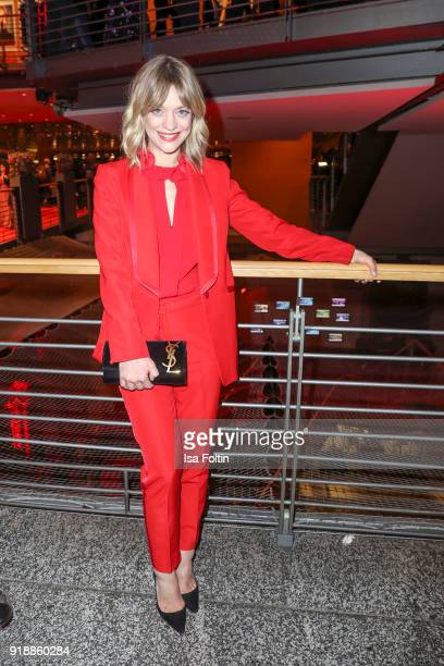 German actress Heike Makatsch attends the opening party of the 68th Berlinale International Film Festival Berlin at Berlinale Palace on February 15...