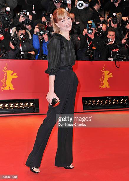 """German actress Heike Makatsch attends the """"The International"""" premiere and Opening Ceremony during the 59th Berlin International Film Festival at the..."""