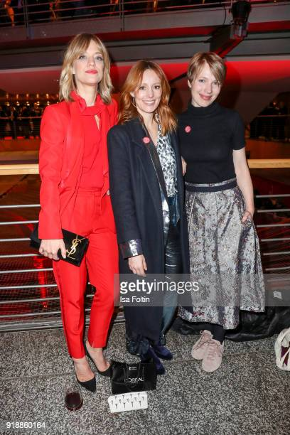 German actress Heike Makatsch German actress Alina Levshin and German actress Anna Brueggemann attend the opening party of the 68th Berlinale...
