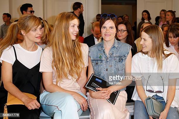 German actress Heike Makatsch, german actress Pheline Roggan, german actress Fritzi Haberlandt and Aino Laberenz attend the Malaikaraiss defilee...