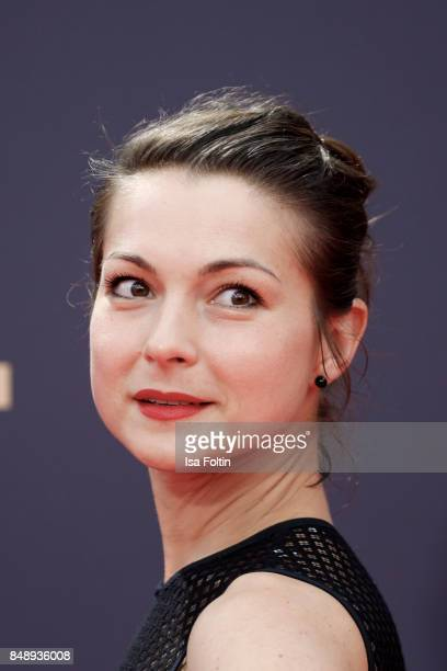 German actress Henriette RichterRoehl attends the UFA 100th anniversary celebration at Palais am Funkturm on September 15 2017 in Berlin Germany