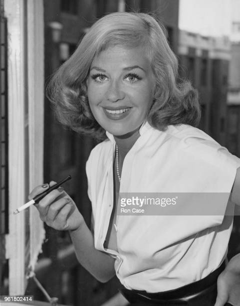 German actress Hildegard Knef at her hotel in London 17th August 1953 She is in the city to attend a gala opening of her 1951 film 'The Sinner'