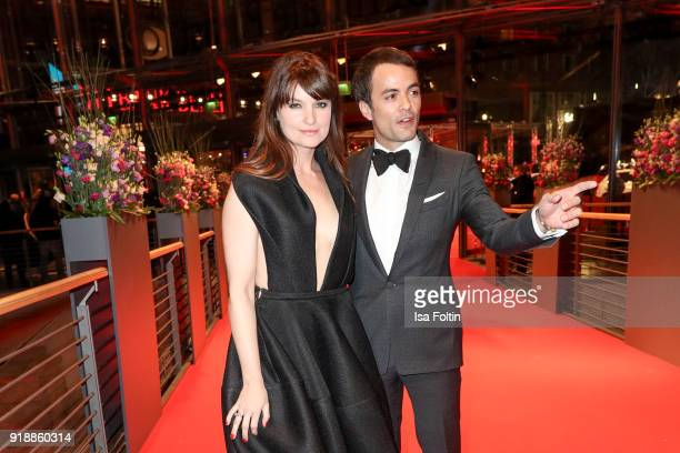 German actress Ina Paule Klink and her partner German actor Nikolai Kinski attend the opening party of the 68th Berlinale International Film Festival...