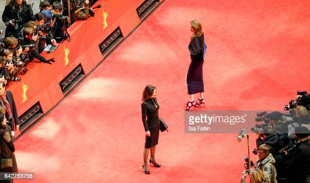 German actress Inka Friedrich and german actress Julia Malik attends the closing ceremony of the 67th Berlinale International Film Festival at...