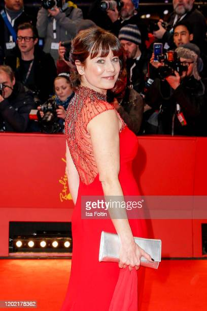"""German actress Inka Friedrich arrive for the opening ceremony and """"My Salinger Year"""" premiere during the 70th Berlinale International Film Festival..."""