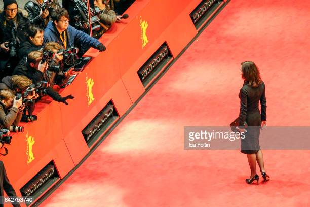 German actress Inka Friedrich attends the closing ceremony of the 67th Berlinale International Film Festival at Berlinale Palace on February 18, 2017...