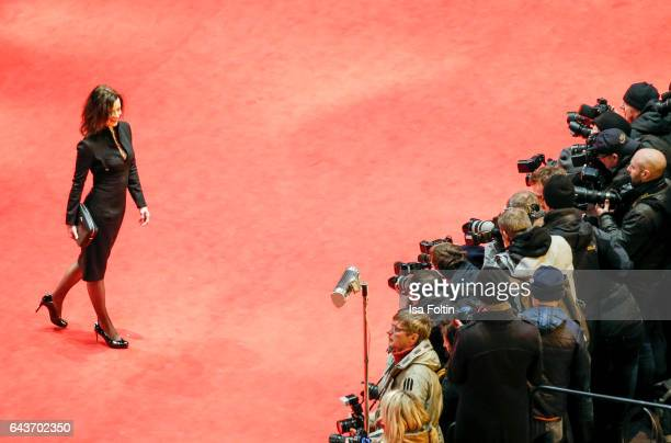 German actress Inka Friedrich attends the closing ceremony of the 67th Berlinale International Film Festival at Berlinale Palace on February 18 2017...