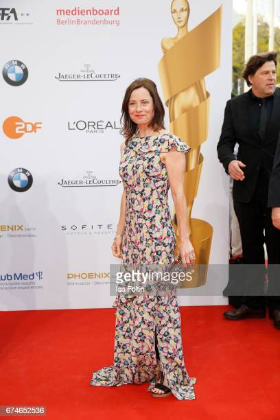 German actress Inka Friedrich during the Lola - German Film Award red carpet arrivals at Messe Berlin on April 28, 2017 in Berlin, Germany.