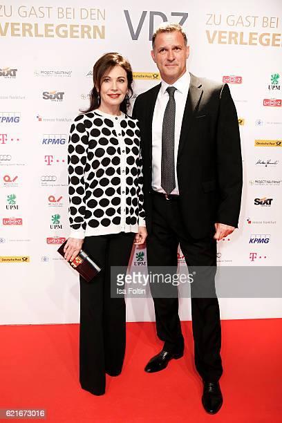 German actress Iris Berben and her boyfriend Heiko Kiesow during the VDZ Publishers' Night 2016 at Deutsche Telekom's representative office on...