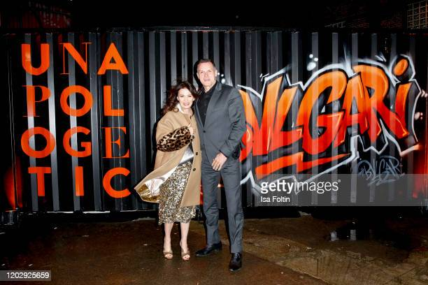 German actress Iris Berben and her partner Heiko Kiesow at the Unapologetic Night by BVLGARI x Constantin Film at BVLGARI CLVB on February 23 2020 in...