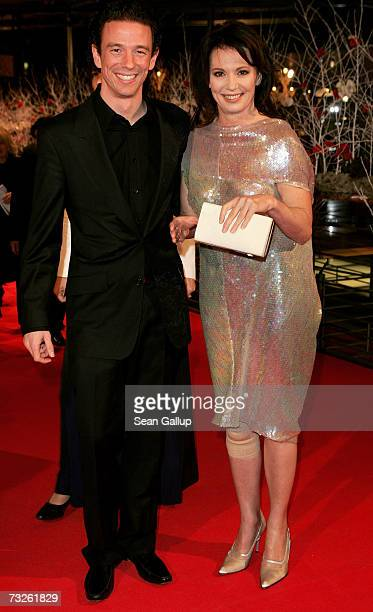 German actress Iris Berben and her son Producer Oliver Berben arrive at the 'La Vie en Rose' Premiere and the Opening Night of the 57th Berlin...