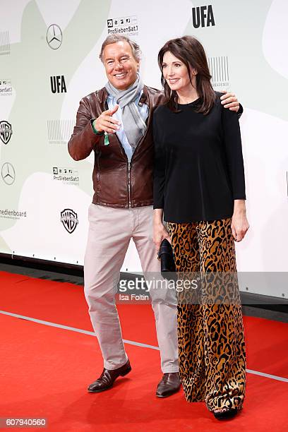 German actress Iris Berben and producer Nico Hofmann attend the First Steps Awards 2016 at Stage Theater on September 19 2016 in Berlin Germany