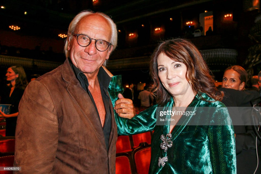 German actress Iris Berben and Wolf Bauer, director and CEO UFA attend the First Steps Awards 2017 at Stage Theater on September 18, 2017 in Berlin, Germany.