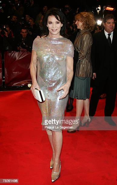 German actress Iris Berben arrives at the 'La Vie en Rose' Premiere and the Opening Night of the 57th Berlin International Film Festival on February...