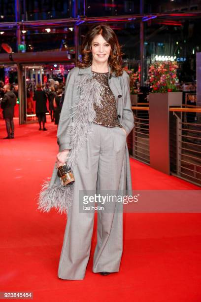 German actress Iris Berben attends the closing ceremony during the 68th Berlinale International Film Festival Berlin at Berlinale Palast on February...