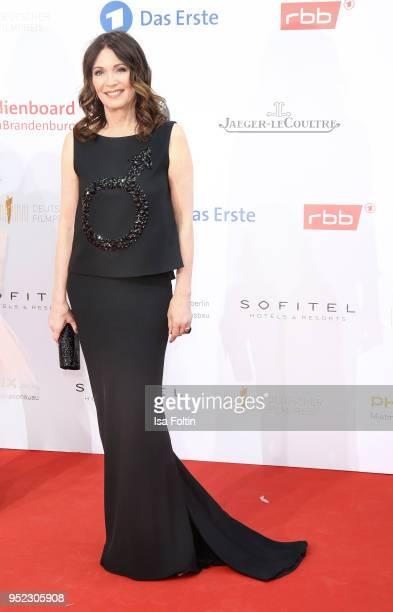 German actress Iris Berben attends the Lola - German Film Award red carpet at Messe Berlin on April 27, 2018 in Berlin, Germany.