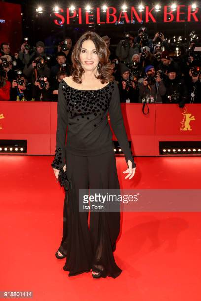 German actress Iris Berben attends the Opening Ceremony 'Isle of Dogs' premiere during the 68th Berlinale International Film Festival Berlin at...