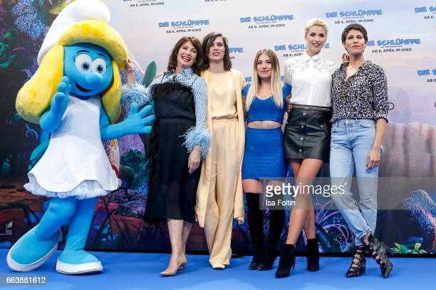 German actress Iris Berben german actress Nora Tschirner youtubestar and influencer Bianca Heinicke alias Bibi model Lena Gercke and german actress...