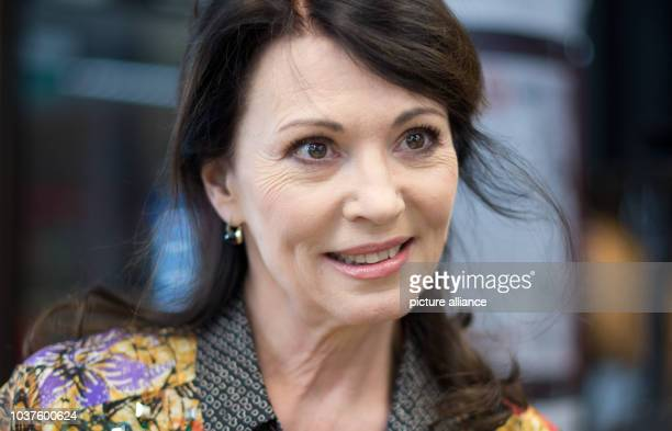 German actress Iris Berben is pictured at the Gottfried Wilhelm Leibniz Library in Hanover, Germany, 24 February 2013. Berben read the German...