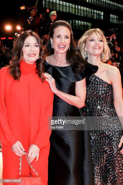 German actress Iris Berben US actress Andie MacDowell and German actress Heike Makatsch attend the opening ceremony and The Kindness Of Strangers...