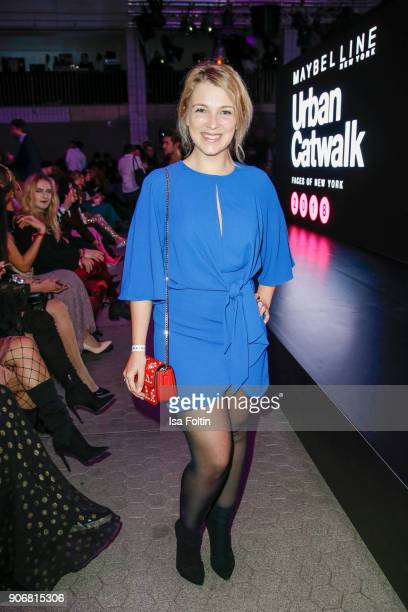 German actress Iris Mareike Steen during the Maybelline Show 'Urban Catwalk - Faces of New York' at Vollgutlager on January 18, 2018 in Berlin,...