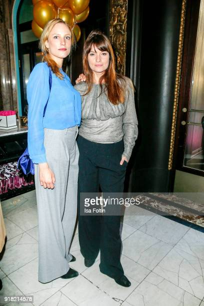 German actress Isabel Thierauch and German actress Ina Paule Klink attend the Blaue Blume Awards 2018 at Grosz on February 14 2018 in Berlin Germany