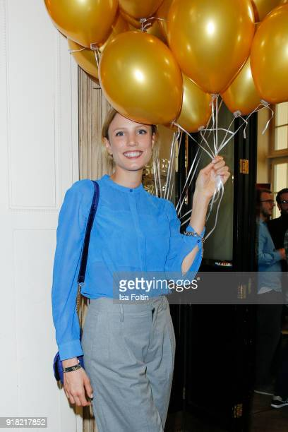 German actress Isabel Thierauch attends the Blaue Blume Awards 2018 at Grosz on February 14 2018 in Berlin Germany