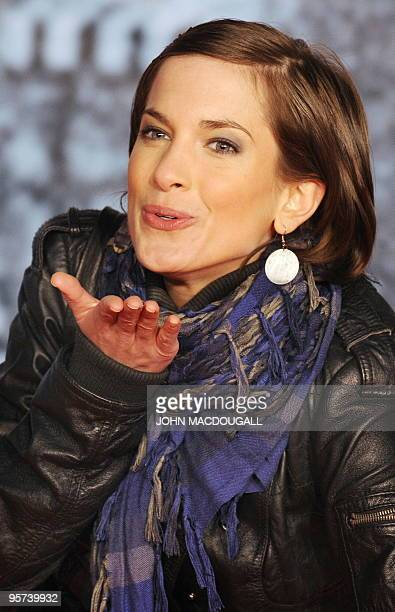 German actress Isabell Horn poses for photographers prior to the German premiere of the film Sherlock Holmes in Berlin January 12 2010 The film's...