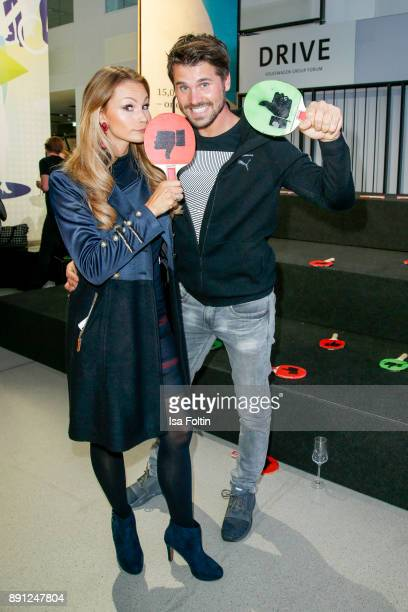 German actress Jana Julia Kilka and German actor Thore Schoelermann during the discussion panel of Clich'e Bashing 'soziale Netzwerke Real vs...