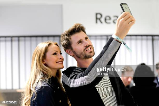 German actress Jana Julia Kilka and German presenter and actress Thore Schoelermann during the discussion panel of Clich'e Bashing 'soziale Netzwerke...