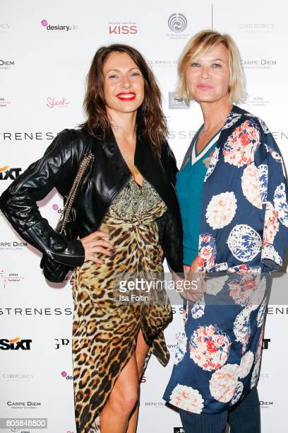 German actress Jana Pallaske and Ute Zahn during the host of Annabelle Mandengs Ladies Dinner at Hotel Zoo on July 2 2017 in Berlin Germany